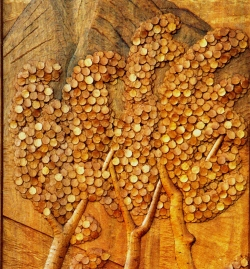 Highly Detailed Quaking Aspen Carved Door