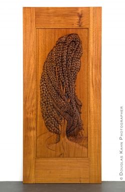 Weeping Beech Carved Mahogany Door